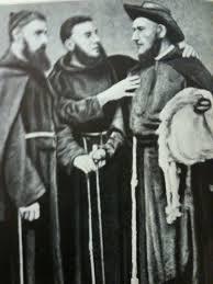 Frei Mariano de Bagnaia a direita