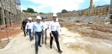 Junto com o ministro das Cidades, Orlando Morando retoma obra do piscinão do Paço